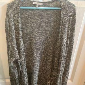 charlotte russe charcoal & white cardigan